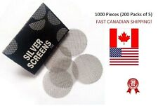 """1000 Pipe Screens Steel Silver Tobacco Smoking 3/4"""" 20mm BEST PRICES FROM CANADA"""