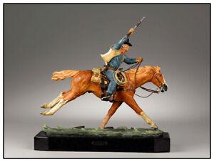Harry Jackson Marshal John Wayne Bronze Polychrome Sculpture Western Signed Art