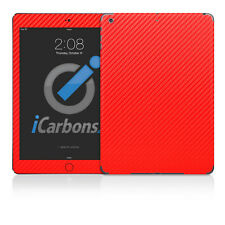 iPad Air Skin - Red Carbon Fibre Skin by iCarbons