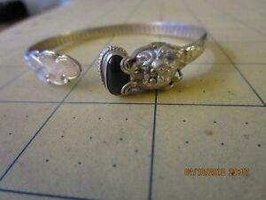 STERLING SILVER DRAGON WRAP BRACELET onyx stone