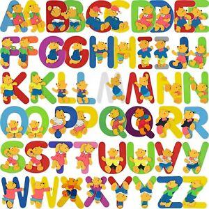 Holzbuchstabe Holzbuchstaben Deko Bunt Kinderzimmer Bär Holz Name Kinder Bieco