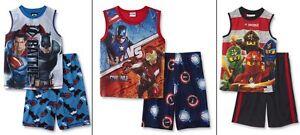 Boys Pajamas Captain America vs Iron Man Shirt/Shorts Set Civil War Size 8 M NEW