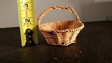 Antique, Tiny, Salesman Sample,  Primitive Woven Basket