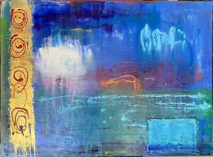 SUE BETTS ART. 'Inclement Weather' Original Acrylic Large Abstract Painting