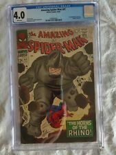 Amazing Spider-Man #41 CGC 4.0White Pages. 1st Appearance of the Rhino
