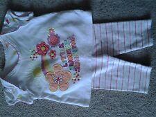 Bebé Niñas Polainas de rayas/Camiseta de manga corta de manchas Paquete. M & S 0-3 años