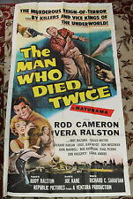 The Man Who Died Twice in Naturama 3 Sheet Movie Poster (C-5) 1958