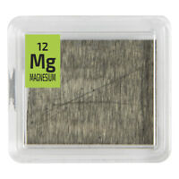 Magnesium Metal 99.9% Element Mg pure Sample Foil in a Periodic Element Tile