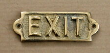 EXIT BRASS DOOR HOUSE PUB BAR MAN CAVE SIGN NOTICE OLD ANTIQUE STYLE