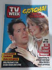 TV Week 1987 Aug 15~,Cybil & Bruce Willis,Rowena Wallace,John Farnham,Presley