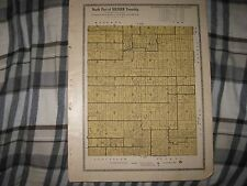 ANTIQUE 1921 SOLDIER TOWNSHIP NORTH PART MAP SHAWNEE COUNTY KANSAS W LAND OWNERS