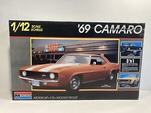 Vintage Monogram 1/12th Scale 1969 Camaro 3-in-1  Open Box, Sealed Contents