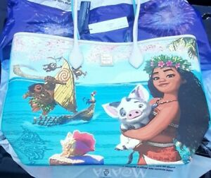 RARE SOLD OUT 2021 New w Tags Disney Parks Dooney & Bourke Tote Bag purse MOANA