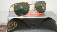 RAY BAN New Sunglasses Authentic Signet Gold Green RB3429M 001 55 135