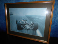 Arthur Benjamins TEAM LOTUS FORD MOTOR RACING PRINT - 1987 FORMULA 1 Framed Art
