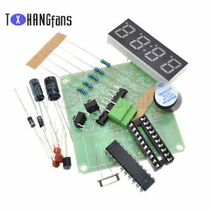 4 Bits Digital AT89C2051 Electronic Clock Production Suit Set DIY Kit ATF