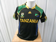 VINTAGE ADIDAS TANZANIA NATIONAL TEAM LARGE SEWN BLACK YELLOW JERSEY 2010 KIT