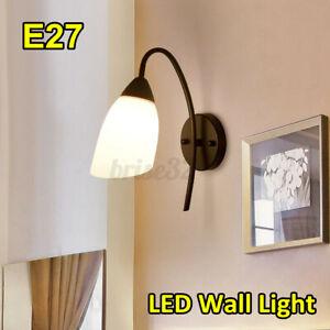 E27 Modern Wall Light LED Bedroom Lamps Glass Sconce Stair Lighting