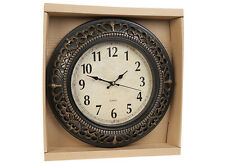 Reloj de pared Antiguo Pergamino Corona De Cuarzo tradicional Home 30.5cm gastos de envío gratis
