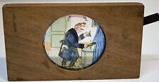 MAGIC LANTERN-plaque à système et ANIME-peinte à la main-1884-Bonsoir avec scène