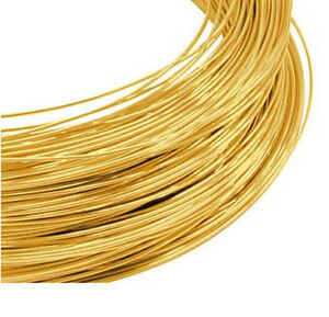 SALE 9ct Gold Round Wire 1mm Fully Annealed Multiple Lengths