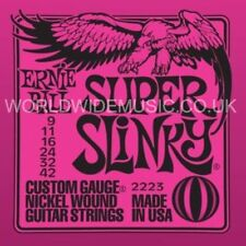 Ernie Ball 2223 Super Slinky Nickel Wound Cuerdas Para Guitarra.009 -.042