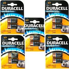 10 x DURACELL LITHIUM 123 CR123A DL123 Photo Batteries 2 per pack