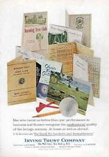 1964 Irving Trust Various GOLF Course Score Cards PRINT AD