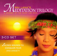 Wai Lana Lana's Meditation Trilogy CD Set Sacred  Sounds To Conquer Fear Anxiety