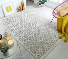 Piatto Mondo Natural Indoor Outdoor Geometric Flatweave Rug in various sizes