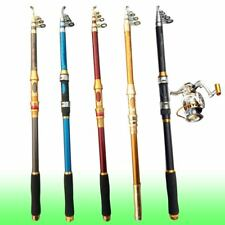 Sea River Fishing Rod Spinning Pole Carbon Fiber Telescopic Portable Very Hard