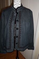 JEAN JACKET SIZE 14 LOADS OF DETAIL from Chadwick's  !!!  EUC