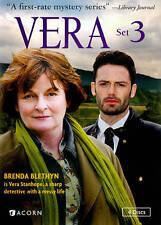 Vera - Set 3 Three (4-Disc DVD Set, 2014, British Mystery Series)  ACORN