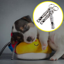 1x Silver Whistle to Stop Barking Bark Control Dog Training Deterrent Whistle
