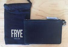 Nwt Women's Frye Casey Leather Zip Pouch, Black, MSRP $48.00
