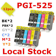 12X PGI525 CLI526 PGI 525 526Gray ink Cartridge for Canon MG 5250 6250 8250 8150