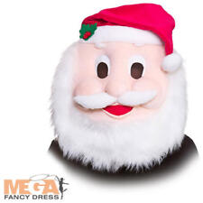Santa Mascot Head Adults Fancy Dress Novelty Father Christmas Costume Accessory
