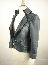 ARNALDO BASSINI Italy Stretch Blue Denim Jean Trucker Western Jacket sz 95