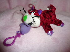 "Cat Hug & Luv stuffed 5"" plush clip on pull purple mouse to Vibrate Far East Bro"