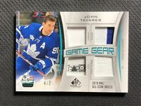 2019-20 SP GAME USED JOHN TAVARES ALL-STAR GAME GEAR JERSEY PATCH TAG #ed 4/6