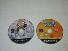 PS2 Shonen Jump One Piece & Naruto Ultimate Ninja BLACK LABEL game lot 2 TESTED