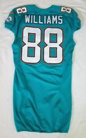 #88 Brandon Williams of Dolphins NFL Locker Room Game Issued Jersey W50th Patch
