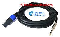 "15' ft 14ga Speakon to 1/4"" Male Plug SPEAKER CABLE WIRE PA DJ Pro Audio VWLTW"