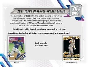 2021 Topps Update Series Baseball Hobby Box (Presell)