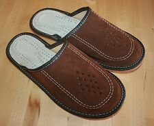 Lovely Men slippers - 100% natural leather - orthopedic  inserts - 9.5 UK/44 EUR