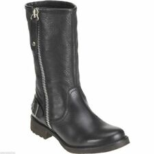 Botas de caña media de mujer textil de color principal negro