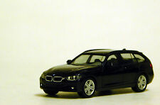 Herpa 1/87 HO BMW 3 Series Touring Black PLASTIC BODY REPLICA 38225-002