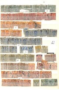 [OP5309] Italy lot of stamps on 12 pages