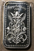 1974 Happy Birthday Madison Mint 1 Ounce .999 Silver Art Bar