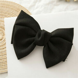 Satin Oversized Bow Barrettes Hair Clip Clamp Hairpin Pin Ponytail Hairband Cute